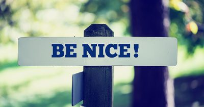 Be Nice Sign