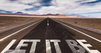 'Let it Be' written on road