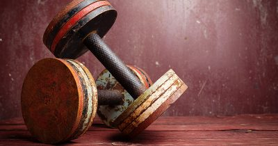 Pair of Old, Abandoned DumbbellsPair of Old, Abandoned Dumbbells