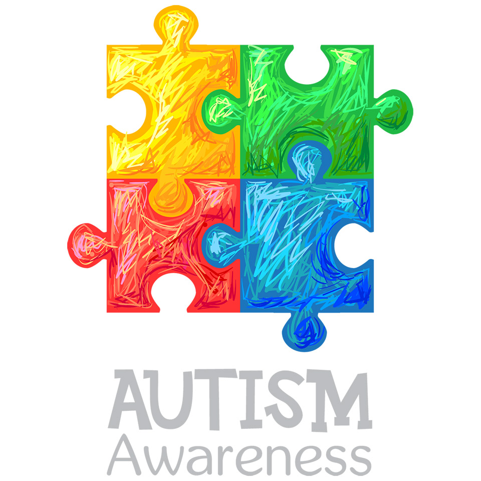 Autism Awareness Jigsaw and Text