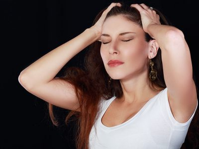 Woman looking stressed