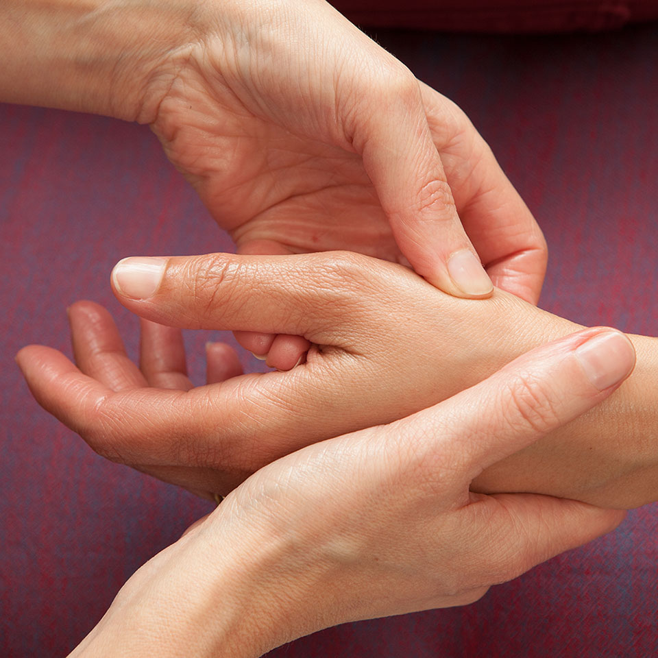 Hand Reflexology technique