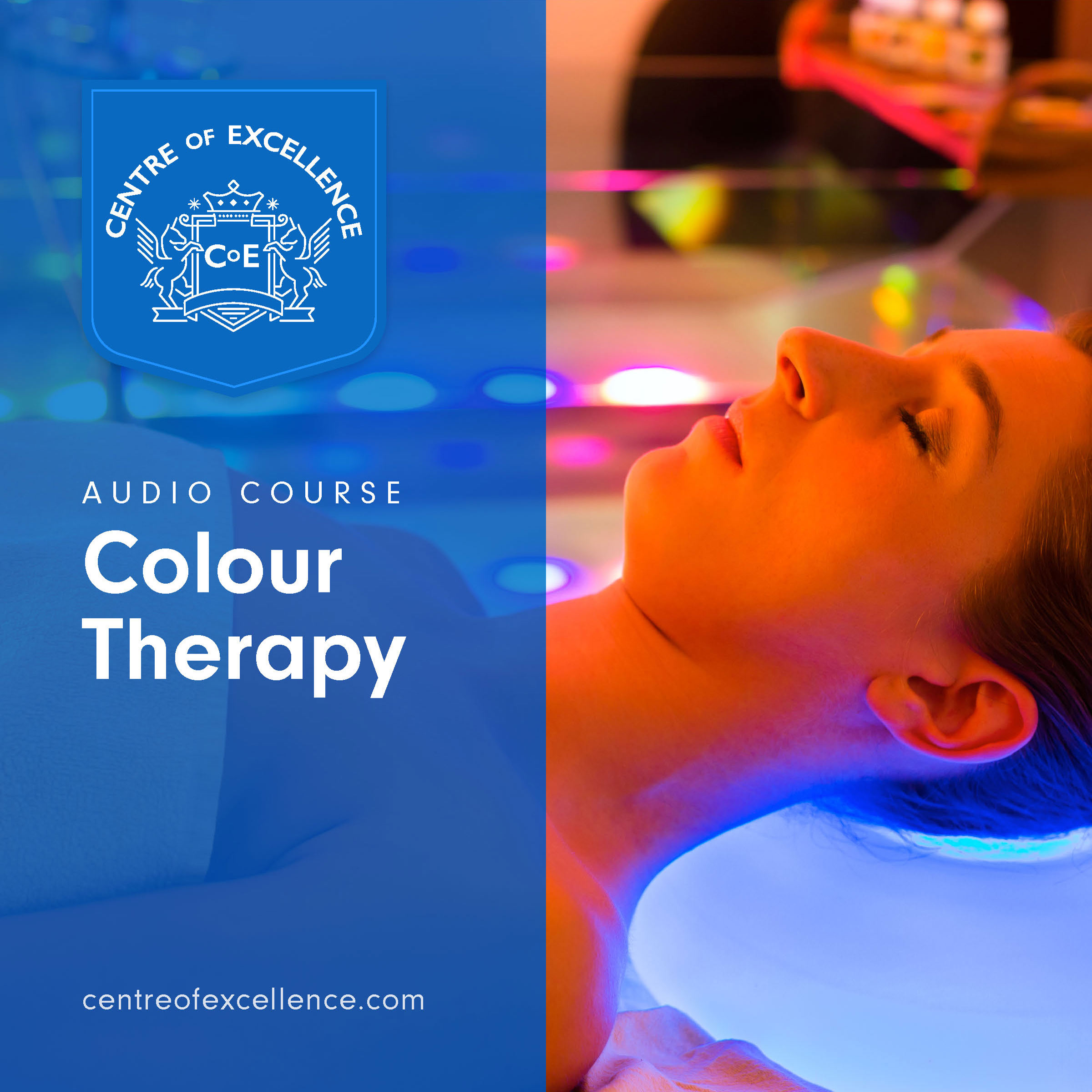 Woman receiving colour therapy