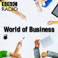 The World of Business podcast logo - business podcasts by BBC Radio