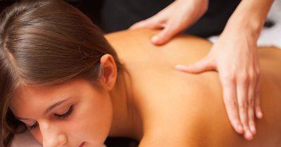 Woman receiving a Swedish Massage
