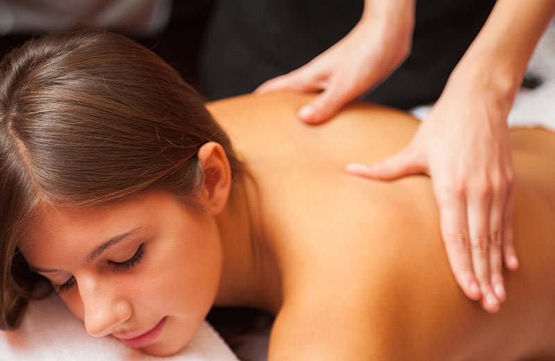 Woman receiving a Swedish Massage