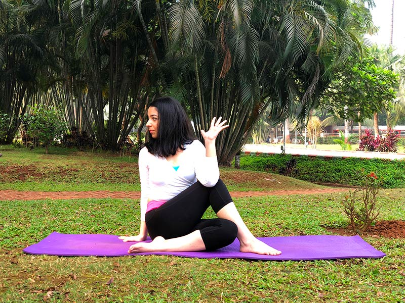] for Back Pain - Spinal Twist Pose