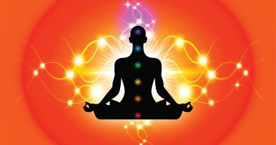 A meditator unblocking a chakra