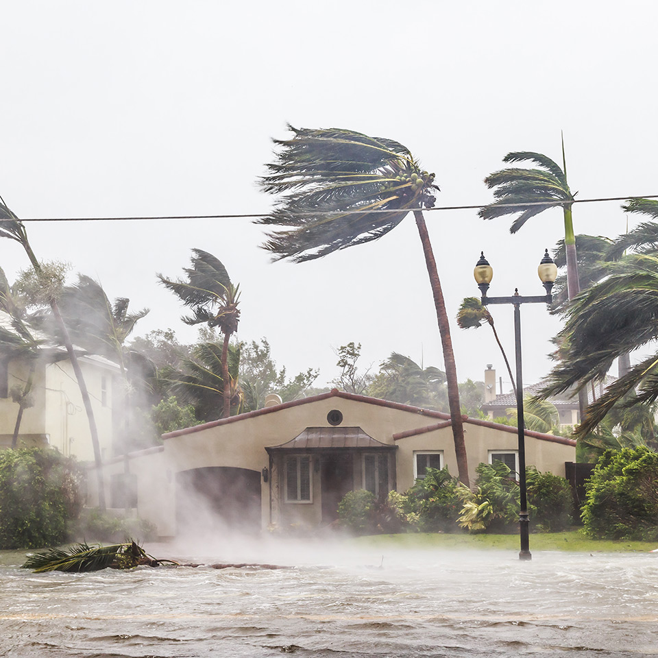 A flooded street after catastrophic Hurricane Irma hit Fort Lauderdale, Florida