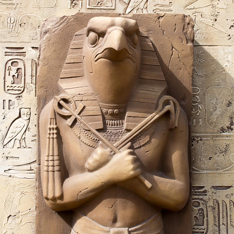 Statue of Ra, the Egyptian Sun God