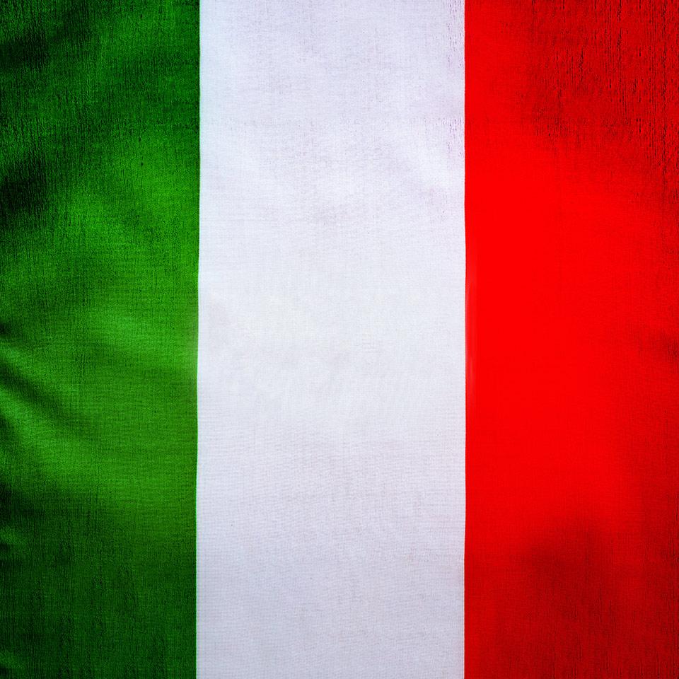 Closeup photo of a Italian flag