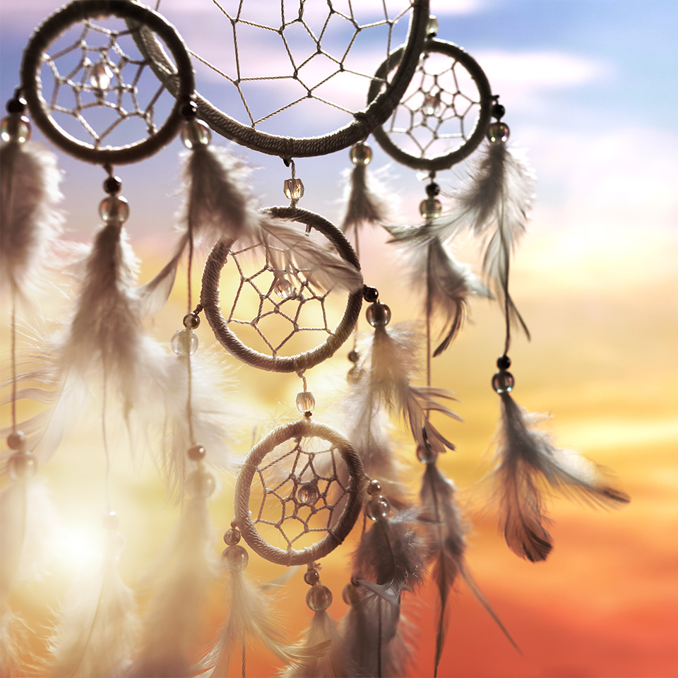 Dreamcatcher at sunset