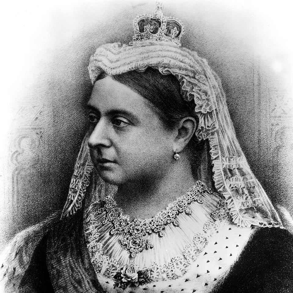 A portrait of Queen Victoria of England