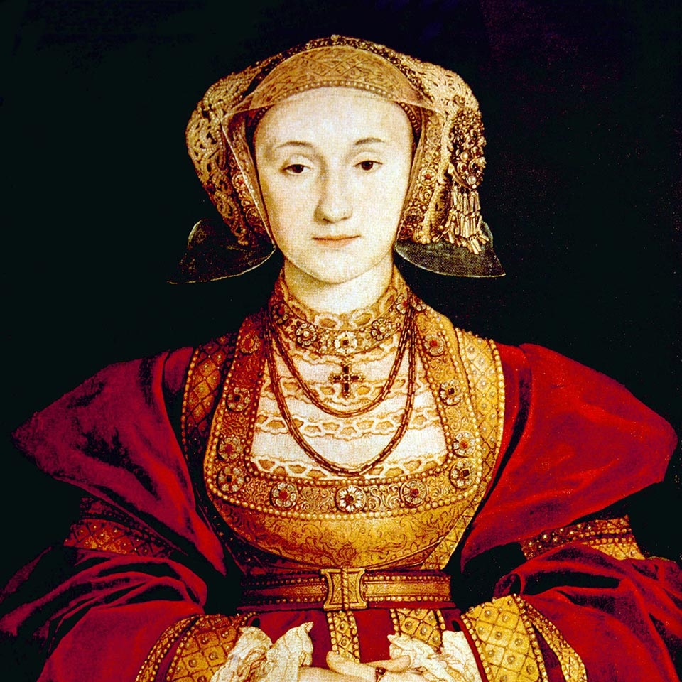 Portrait painting of Queen Anne of Cleves (1515-1557), fourth wife of Henry VIII