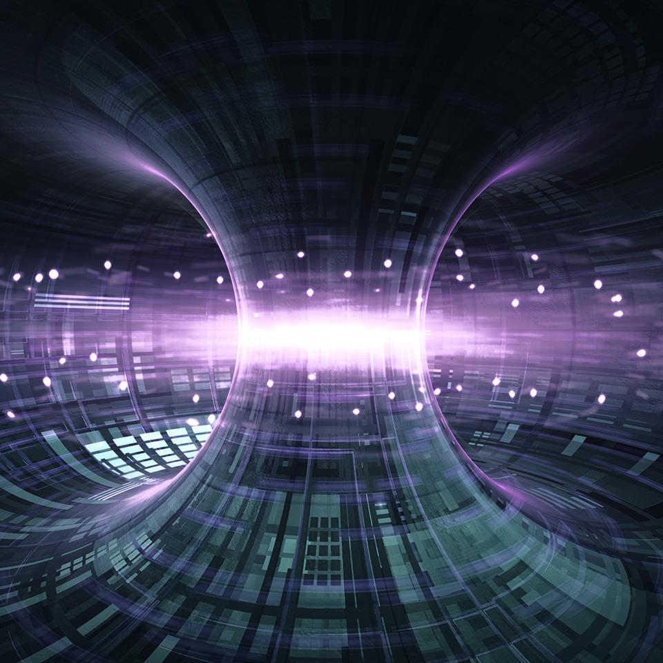 High energy particles flow through a tokamak